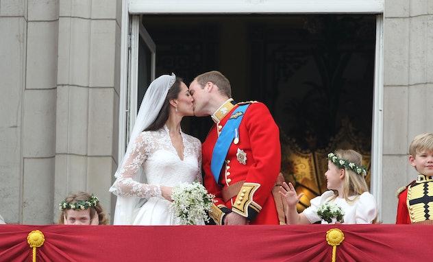 Prince William kissed Kate Middleton on the balcony at Buckingham Palace. Twice.
