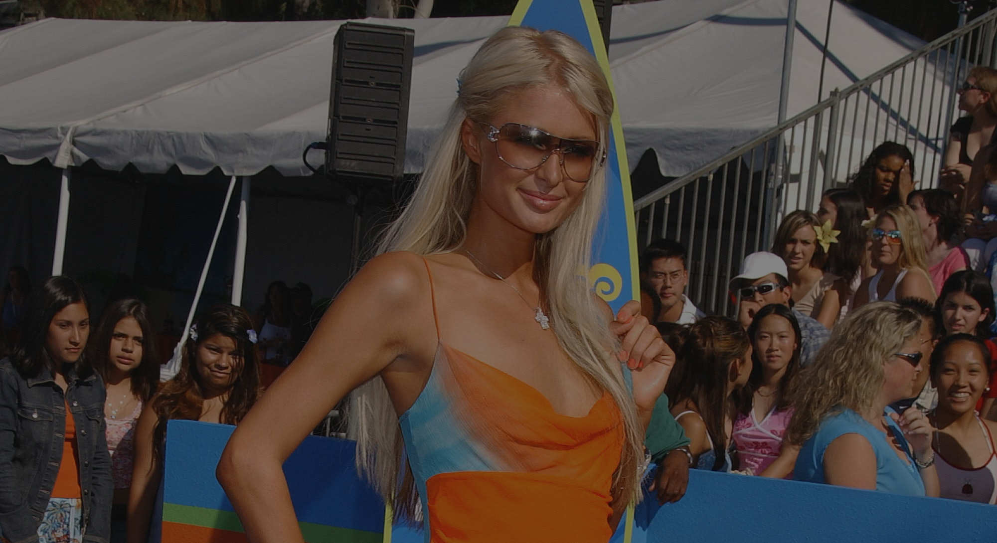 Paris Hilton arriving at The Teen Choice Awards 2003. (Photo by Frank Trapper/Corbis via Getty Images)