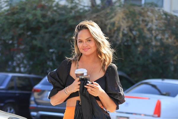 LOS ANGELES, CA - FEBRUARY 24: Chrissy Teigen out on a  shopping trip on February 24, 2021 in Los Angeles, California. (Photo by Rachpoot/MEGA/GC Images)