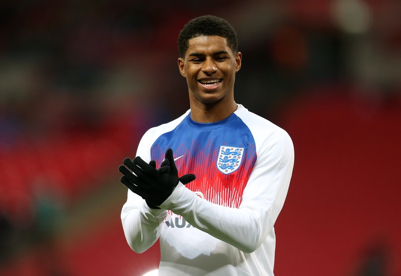 LONDON, ENGLAND - MARCH 27: Marcus Rashford of England before the International Friendly match between England and Italy at Wembley Stadium on March 27, 2018 in London, England. (Photo by James Baylis - AMA/Getty Images)