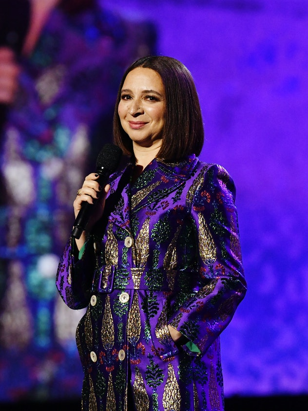 "LOS ANGELES, CALIFORNIA - JANUARY 28: Maya Rudolph speaks onstage at the 62nd Annual GRAMMY Awards  ""Let's Go Crazy"" The GRAMMY Salute To Prince on January 28, 2020 in Los Angeles, California. (Photo by Emma McIntyre/Getty Images for The Recording Academy)"