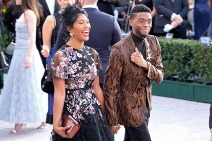 LOS ANGELES, CALIFORNIA - JANUARY 27: Taylor Simone Ledward and Chadwick Boseman attend the 25th annual Screen Actors Guild Awards at The Shrine Auditorium on January 27, 2019 in Los Angeles, California. (Photo by Sarah Morris/Getty Images)