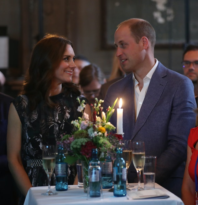 BERLIN, GERMANY - JULY 20:  Prince William, Duke of Cambridge, and Catherine, Duchess of Cambridge, attend a reception at Claerchen's Ballhaus dance hall following a day in Heidelberg on the second day of the royal visit to Germany on July 20, 2017 in Berlin, Germany. The royal couple are on a three-day trip to Germany that includes visits to Berlin, Hamburg and Heidelberg.  (Photo by Sean Gallup/Getty Images)