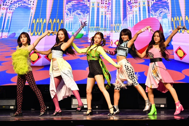 SEOUL, SOUTH KOREA – JUNE 19 : Red Velvet performs on stage during the showcase for the new album 'The ReVe Festival Day 1' at Blue Square iMarket Hall in Hannam-dong on June 19, 2019 in Seoul, South Korea.(Photo by THE FACT/Imazins via Getty Images)