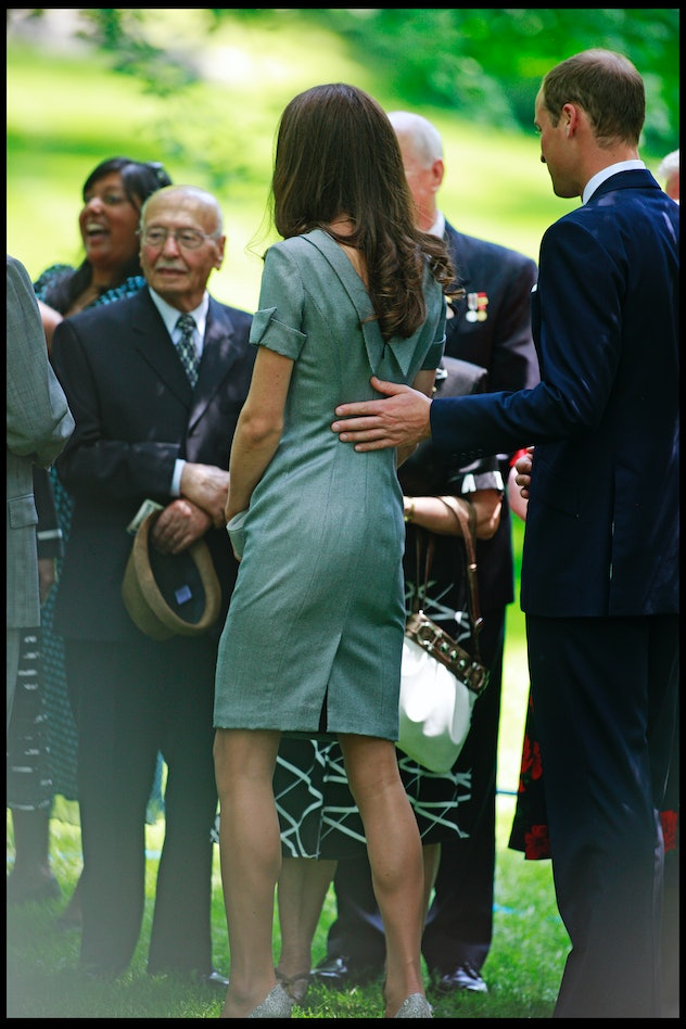 Prince William and Catherine, Duchess of Cambridge plant an Eastern Hemlock tree at the Royal Grove area of Rideau Hall, the official residence of the Governor General of Canada. Ottawa. Canada. 2nd July 2011. (Photo by David Howells/Corbis via Getty Images)