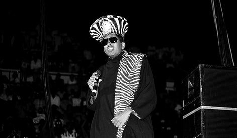 INDIANAPOLIS - JULY 1990:  Rapper Shock G. of Digital Underground performs at Market Square Arena in Indianapolis, Indiana in July 1990.  (Photo By Raymond Boyd/Getty Images)