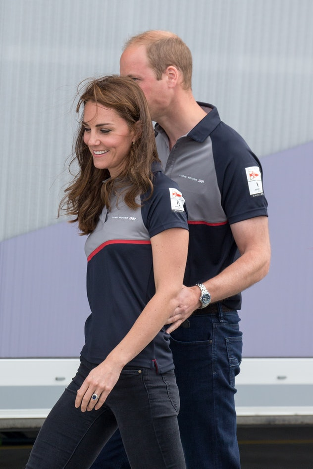 PORTSMOUTH, ENGLAND - JULY 24: Catherine, Duchess of Cambridge and Prince William, Duke of Cambridge attend the America's Cup World Series at BAR HQ on July 24, 2016 in Portsmouth, England. (Photo by Luca Teuchmann/WireImage)