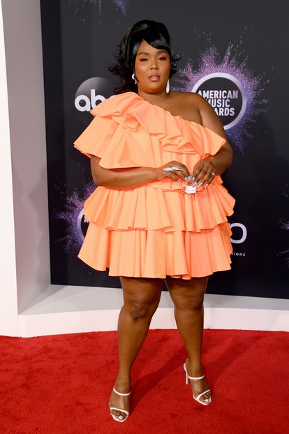 LOS ANGELES, CALIFORNIA - NOVEMBER 24: Lizzo attends the 2019 American Music Awards at Microsoft Theater on November 24, 2019 in Los Angeles, California. (Photo by Jeff Kravitz/FilmMagic for dcp)