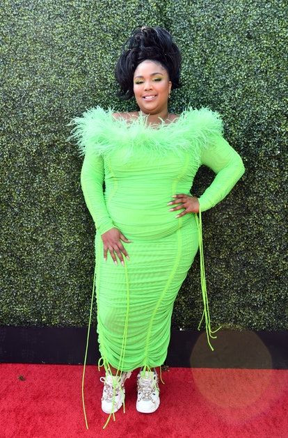 SANTA MONICA, CALIFORNIA - JUNE 15: Lizzo attends the 2019 MTV Movie and TV Awards at Barker Hangar on June 15, 2019 in Santa Monica, California. (Photo by Emma McIntyre/Getty Images for MTV)