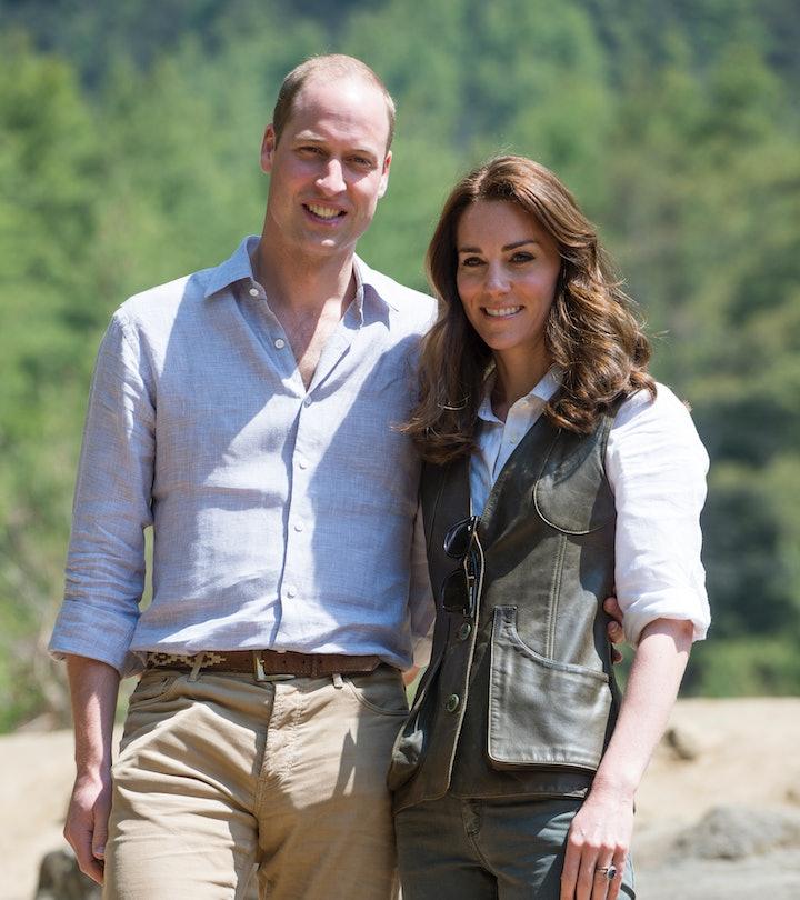 THIMPHU, BHUTAN - APRIL 15:  Prince William, Duke of Cambridge and Catherine, Duchess of Cambridge p...