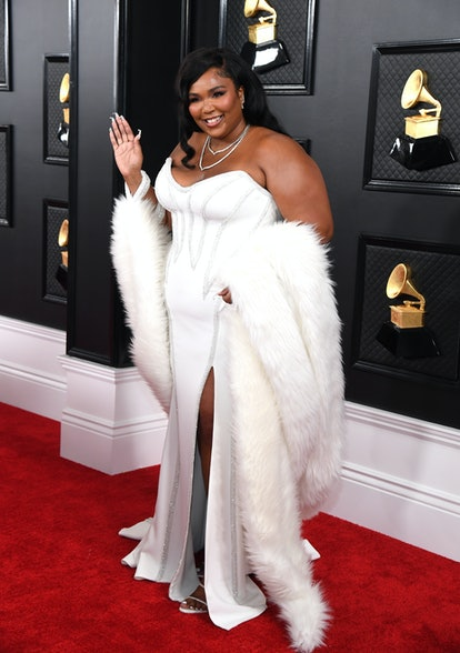 LOS ANGELES, CALIFORNIA - JANUARY 26: Lizzo attends the 62nd Annual GRAMMY Awards at STAPLES Center on January 26, 2020 in Los Angeles, California. (Photo by Kevin Mazur/Getty Images for The Recording Academy)