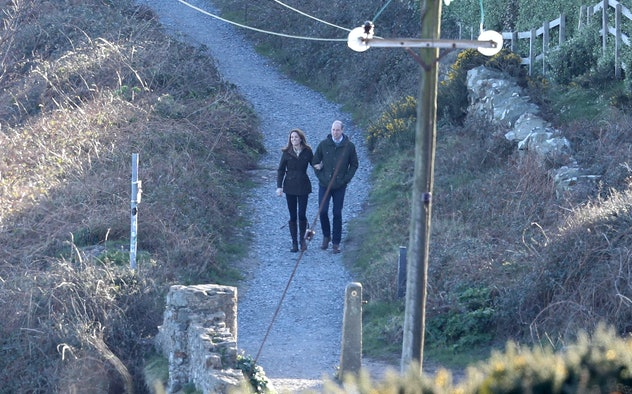 DUBLIN, IRELAND - MARCH 04:  Catherine, Duchess of Cambridge and Prince William, Duke of Cambridge visit Howth Cliff, a cliff walk with views out over the Irish Sea during day two of their visit to Ireland on March 04, 2020 in Dublin, Ireland. (Photo by Chris Jackson - Pool/Getty Images)