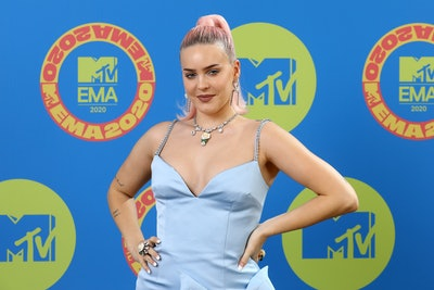 LONDON, ENGLAND - OCTOBER 31: In this image released on November 08, Anne Marie poses ahead of the MTV EMA's 2020 on October 31, 2020 in London, England. The MTV EMA's aired on November 08, 2020. (Photo by Tim P. Whitby/Getty Images for MTV)