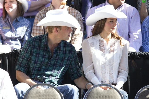 The Duke And Duchess Of Cambridge On Their Official Tour Of Canada.The Duke And Duchess Start, And Watch, The Calgary Stampede Parade, In Calgary, Alberta. . (Photo by Julian Parker/UK Press via Getty Images)