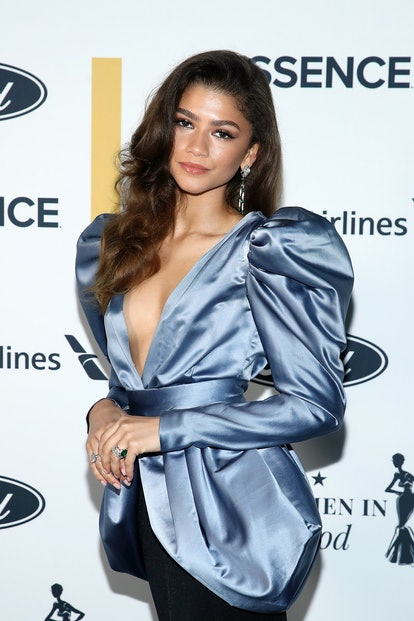 LOS ANGELES, CALIFORNIA - APRIL 22: In this image released on April 22, 2021, Zendaya attends ESSENC...