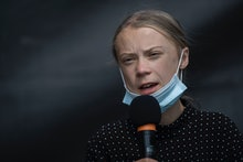 BERLIN, GERMANY - AUGUST 20: Swedish climate activist Greta Thunberg speaks a press conference after...