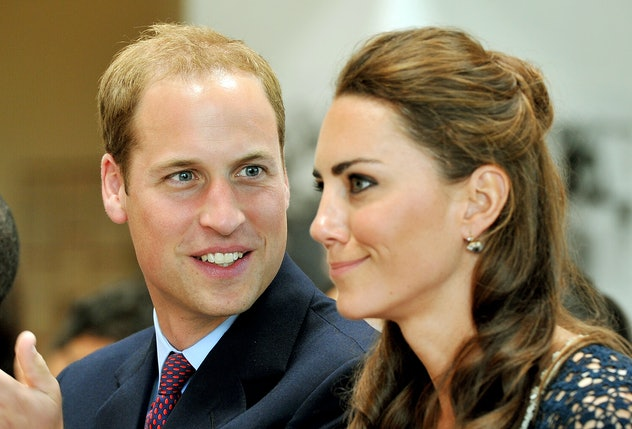 LOS ANGELES - JULY 10:  Prince William, Duke of Cambridge and Catherine, Duchess of Cambridge watch ...