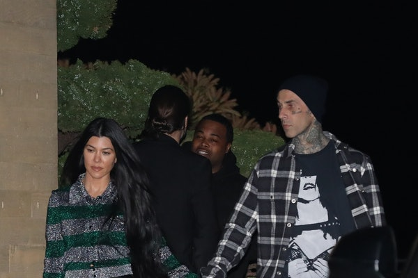 Kourtney Kardashian and Travis Barker's photo at Machine Gun Kelly's birthday is another sweet double date.