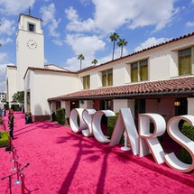 LOS ANGELES, CALIFORNIA – APRIL 25: A view of the red carpet during the 93rd Annual Academy Awards at Union Station on April 25, 2021 in Los Angeles, California. (Photo by Chris Pizzelo-Pool/Getty Images)