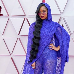 LOS ANGELES, CALIFORNIA – APRIL 25: H.E.R. attends the 93rd Annual Academy Awards at Union Station on April 25, 2021 in Los Angeles, California. (Photo by Chris Pizzello-Pool/Getty Images)