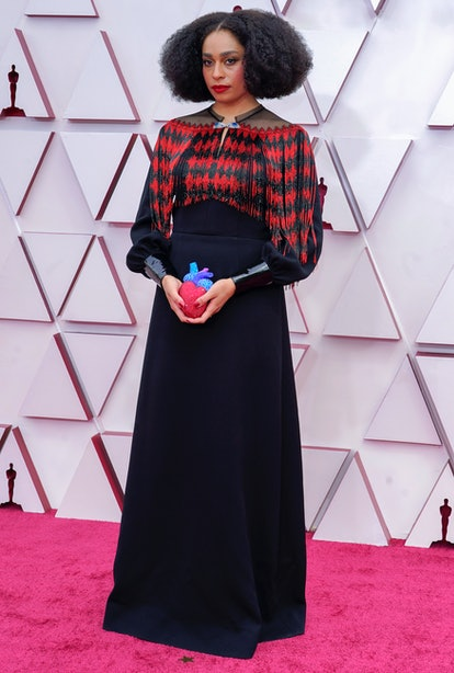 LOS ANGELES, CALIFORNIA – APRIL 25: Celeste Waite attends the 93rd Annual Academy Awards at Union Station on April 25, 2021 in Los Angeles, California. (Photo by Chris Pizzelo-Pool/Getty Images)