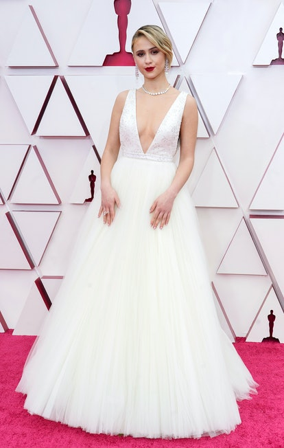 LOS ANGELES, CALIFORNIA – APRIL 25: Maria Bakalova attends the 93rd Annual Academy Awards at Union Station on April 25, 2021 in Los Angeles, California. (Photo by Chris Pizzelo-Pool/Getty Images)