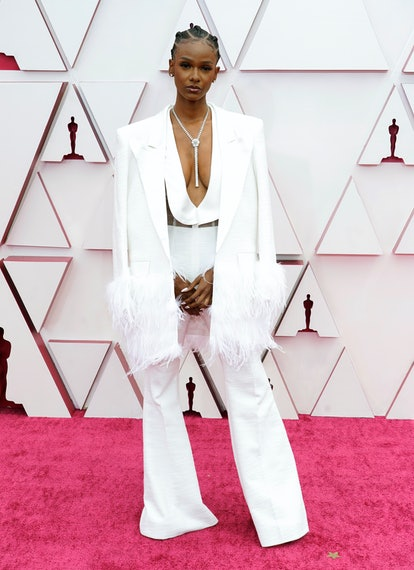 LOS ANGELES, CALIFORNIA – APRIL 25: Tiara Thomas attends the 93rd Annual Academy Awards at Union Station on April 25, 2021 in Los Angeles, California. (Photo by Chris Pizzelo-Pool/Getty Images)