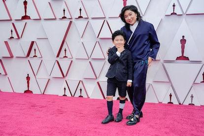 Alan Kim had a blast at the 2021 Academy Awards on Sunday night.