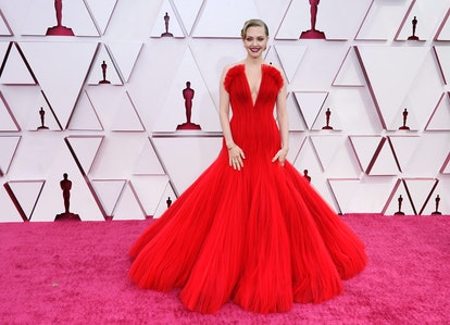 LOS ANGELES, CALIFORNIA – APRIL 25: Amanda Seyfried attends the 93rd Annual Academy Awards at Union Station on April 25, 2021 in Los Angeles, California. (Photo by Chris Pizzelo-Pool/Getty Images)