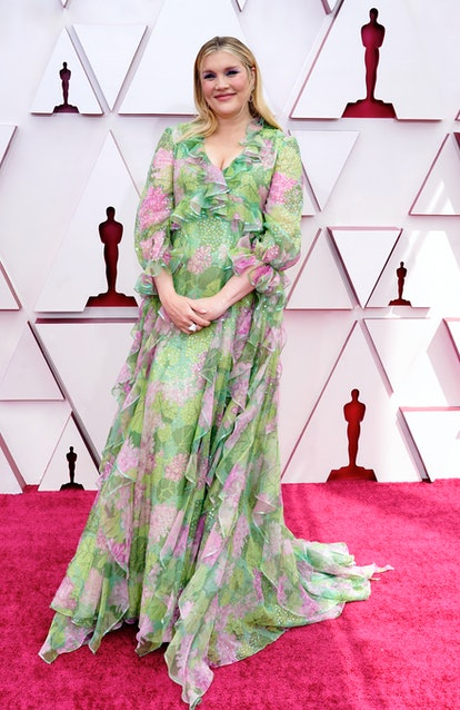 LOS ANGELES, CALIFORNIA – APRIL 25: Emerald Fennell attends the 93rd Annual Academy Awards at Union Station on April 25, 2021 in Los Angeles, California. (Photo by Chris Pizzelo-Pool/Getty Images)
