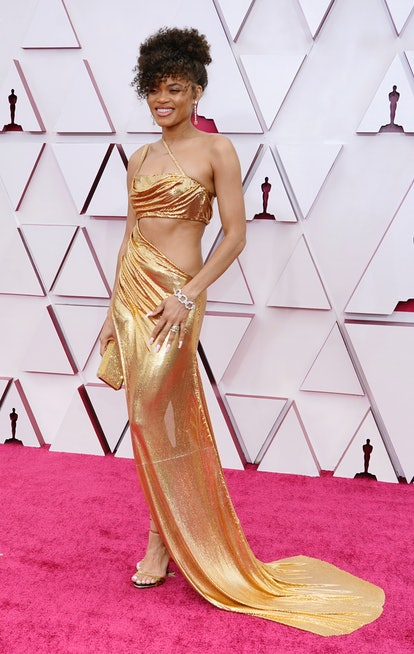 LOS ANGELES, CALIFORNIA – APRIL 25: Andra Day attends the 93rd Annual Academy Awards at Union Station on April 25, 2021 in Los Angeles, California. (Photo by Chris Pizzello-Pool/Getty Images)