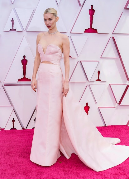 LOS ANGELES, CALIFORNIA – APRIL 25: Vanessa Kirby attends the 93rd Annual Academy Awards at Union St...