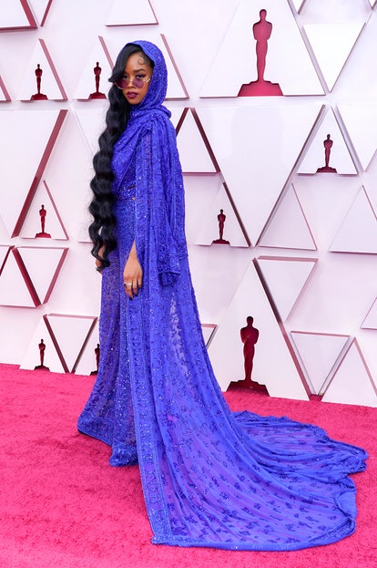 LOS ANGELES, CALIFORNIA – APRIL 25: H.E.R. attends the 93rd Annual Academy Awards at Union Station on April 25, 2021 in Los Angeles, California. (Photo by Chris Pizzelo-Pool/Getty Images)