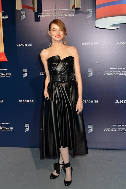 PARIS, FRANCE - APRIL 11:  Emma Stone attends the 'Amazing Spiderman' Paris Premiere At Le Grand Rex on April 11, 2014 in Paris, France.  (Photo by Foc Kan/FilmMagic)