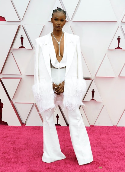 LOS ANGELES, CALIFORNIA – APRIL 25: Tiara Thomas attends the 93rd Annual Academy Awards at Union Station on April 25, 2021 in Los Angeles, California. (Photo by Chris Pizzello-Pool/Getty Images)