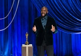 In this handout photo provided by A.M.P.A.S., honoree Tyler Perry accepts the Jean Hersholt Humanitarian Award onstage during the 93rd Annual Academy Awards at Union Station on April 25, 2021 in Los Angeles, California. (Photo by Todd Wawrychuk/A.M.P.A.S. via Getty Images)