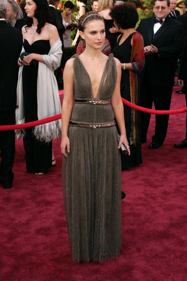 Natalie Portman wearing Lanvin at the 2005 Oscars.