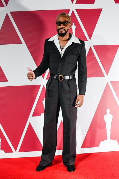 LONDON, UNITED KINGDOM – APRIL 25: Lakeith Stanfield arrives at a screening of the Oscars on Monday, April 26, 2021 in London. (Photo by Alberto Pezzali-Pool/Getty Images)