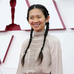 LOS ANGELES, CALIFORNIA – APRIL 25: Chloe Zhao attends the 93rd Annual Academy Awards at Union Station on April 25, 2021 in Los Angeles, California. (Photo by Chris Pizzello-Pool/Getty Images)