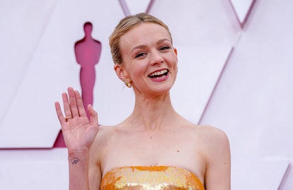 LOS ANGELES, CALIFORNIA – APRIL 25: Carey Mulligan attends the 93rd Annual Academy Awards at Union Station on April 25, 2021 in Los Angeles, California. (Photo by Chris Pizzello-Pool/Getty Images)