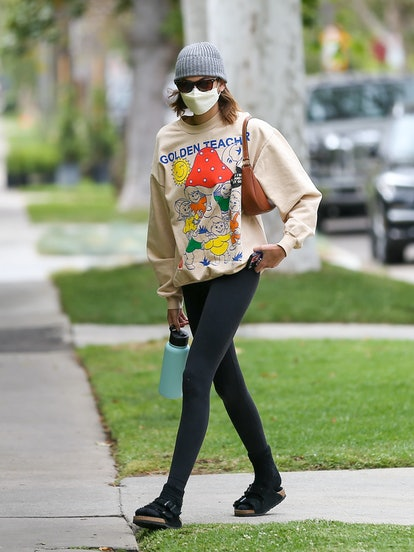 LOS ANGELES, CA - APRIL 24: Kaia Gerber is seen on April 24, 2021 in Los Angeles, California.  (Phot...