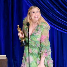 LOS ANGELES, CALIFORNIA – APRIL 25: (EDITORIAL USE ONLY) In this handout photo provided by A.M.P.A.S., Emerald Fennell accepts the Writing (Original Screenplay) award for 'Promising Young Woman' onstage during the 93rd Annual Academy Awards at Union Station on April 25, 2021 in Los Angeles, California. (Photo by Todd Wawrychuk/A.M.P.A.S. via Getty Images)