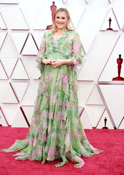 LOS ANGELES, CALIFORNIA – APRIL 25: (EDITORIAL USE ONLY) In this handout photo provided by A.M.P.A.S., Emerald Fennell attends the 93rd Annual Academy Awards at Union Station on April 25, 2021 in Los Angeles, California. (Photo by Matt Petit/A.M.P.A.S. via Getty Images)