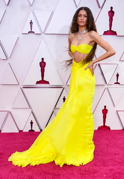 LOS ANGELES, CALIFORNIA – APRIL 25: Zendaya attends the 93rd Annual Academy Awards at Union Station on April 25, 2021 in Los Angeles, California. (Photo by Chris Pizzello-Pool/Getty Images)