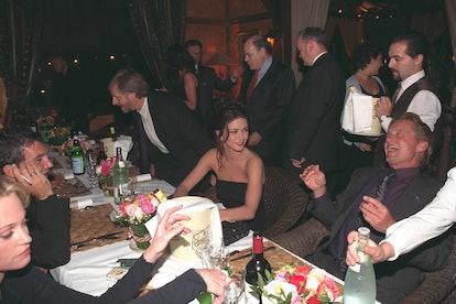 (Original Caption) Melanie Griffith, Antonio Banderas, Catherine Zeta-Jones and Michael Douglas at the dinner. (Photo by Eric Robert/Sygma/Sygma via Getty Images)