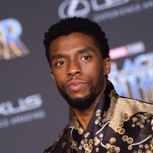 Actor Chadwick Boseman attends the world premiere of Marvel Studios Black Panther, on January 29, 20...