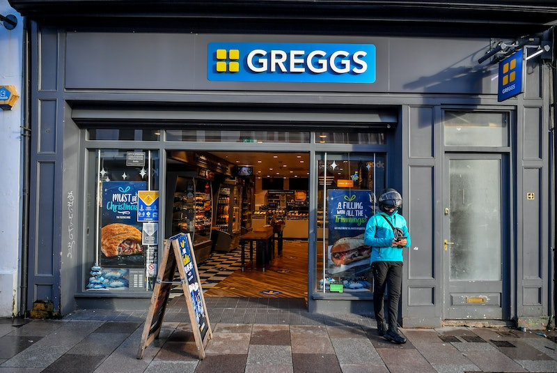 Greggs in Cardiff city centre after tier 4 lockdown, after First Minister Mark Drakeford announced the country will immediately enter lockdown ahead of Christmas, following a rapid surge in cases of Covid-19 across Wales. Plans to allow five days of relaxed restrictions allowing up to two families to form a festive bubble have also been cut short and will now only apply for Christmas Day. (Photo by Ben Birchall/PA Images via Getty Images)