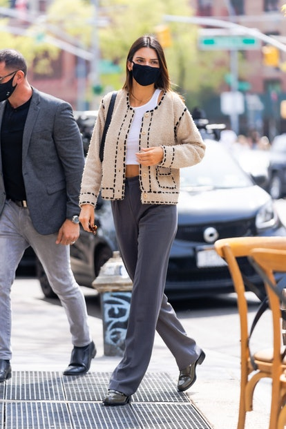 NEW YORK, NEW YORK - APRIL 24: Kendall Jenner is seen in SoHo on April 24, 2021 in New York City. (P...