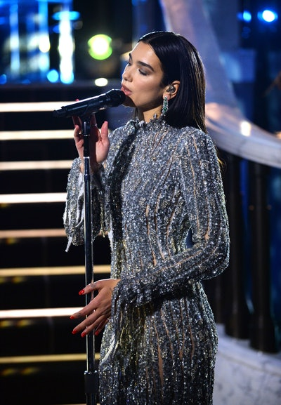 UNSPECIFIED - APRIL 25: In this image released on April 25, Dua Lipa performs during the 29th Annual Elton John AIDS Foundation Academy Awards Viewing Party on April 25, 2021. (Photo by David M. Benett/Getty Images for the Elton John AIDS Foundation)