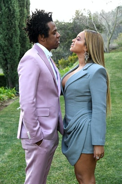 LOS ANGELES, CALIFORNIA - JANUARY 25: (L-R) Jay-Z and Beyoncé attend 2020 Roc Nation THE BRUNCH on January 25, 2020 in Los Angeles, California. (Photo by Kevin Mazur/Getty Images for Roc Nation)